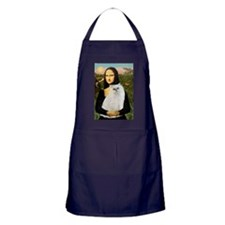 Mona's White Persian Apron (dark)
