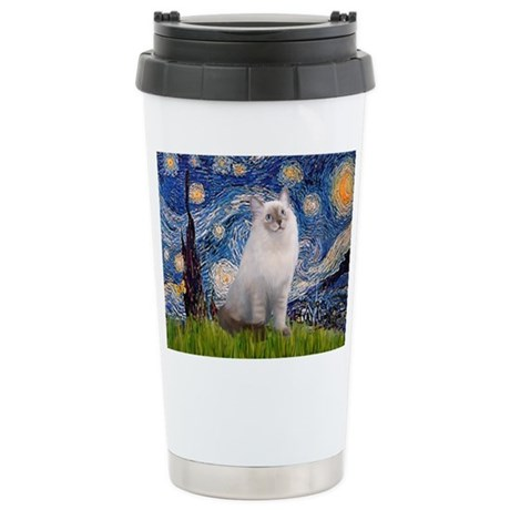 TILEStarry-Ragdoll1.png Stainless Steel Travel Mug