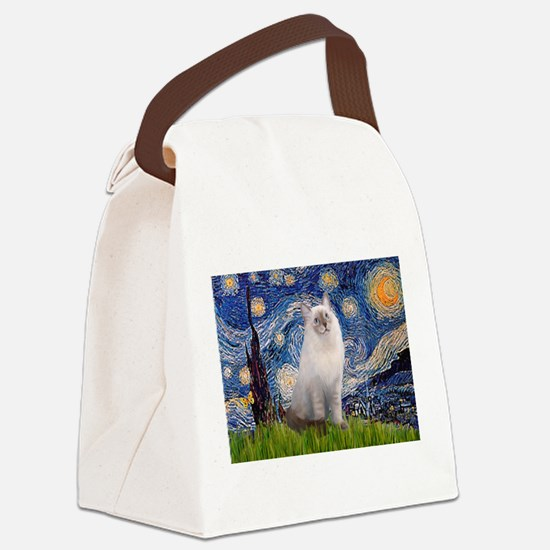 TILEStarry-Ragdoll1.png Canvas Lunch Bag