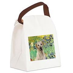 Irises - Yellow Labrador Canvas Lunch Bag