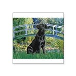 Bridge & Black Lab Square Sticker 3