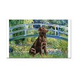 Bridge / Labrador (Choc) Rectangle Car Magnet