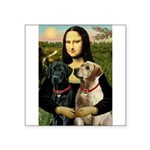 Mona / Labrador Square Sticker 3