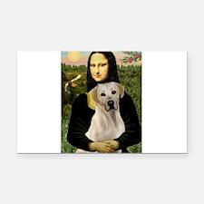 Mona Lisa / Lab (y) Rectangle Car Magnet