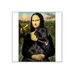 Mona's Black Lab Square Sticker 3