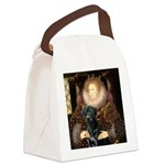 The Queen's Black Lab Canvas Lunch Bag