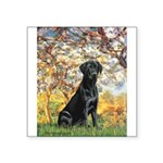 Spring & Black Lab Square Sticker 3