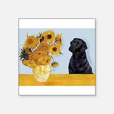 "Sunflowers / Lab Square Sticker 3"" x 3"""