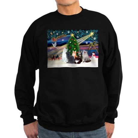 Xmas Magic / Six Cats Sweatshirt (dark)