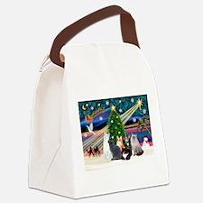 Xmas Magic / Six Cats Canvas Lunch Bag