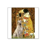 The Kiss-Yellow Lab Square Sticker 3