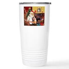 Santa's 3 cats Travel Coffee Mug