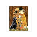 The Kiss & Black Lab Square Sticker 3