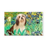 Irises / Lhasa Apso #4 Rectangle Car Magnet