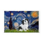 Starry / Lhasa Apso #2 Rectangle Car Magnet