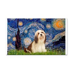 Starry / Lhasa Apso #4 Rectangle Car Magnet