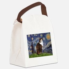 TILE-Starry-CalicoSH.png Canvas Lunch Bag