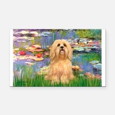 Lilies / Lhasa Apso #9 Rectangle Car Magnet