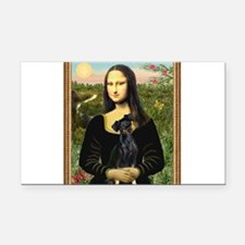 Mona / Min Pinscher Rectangle Car Magnet
