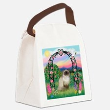 Rose Arbor / Himalayan Cat Canvas Lunch Bag