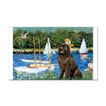 Sailboats & Newfoundland Rectangle Car Magnet