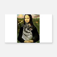 Mona / Nor Elkhound Rectangle Car Magnet