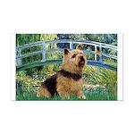 Bridge / Norwich Terrier Rectangle Car Magnet