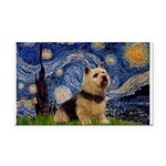 Starry /Norwich Terrier Rectangle Car Magnet