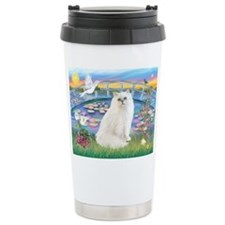 Lilies & White Persian Travel Mug