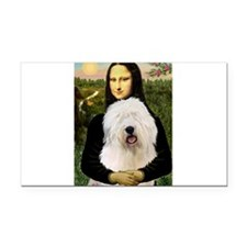 Mona's Old English Sheepdog Rectangle Car Magnet