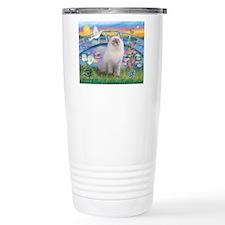Lilies / Ragdoll Travel Mug
