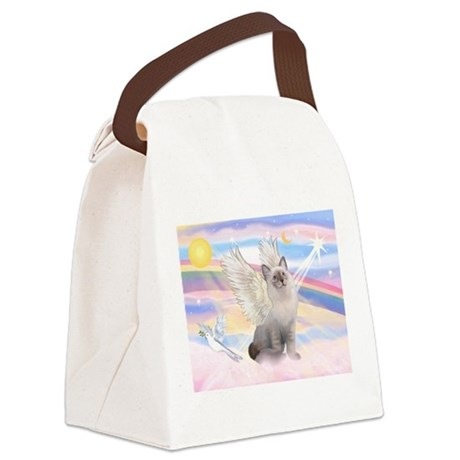 TILE-Clouds-Ragdoll1.png Canvas Lunch Bag