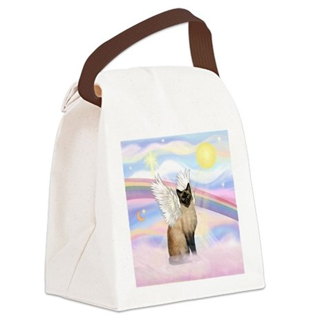 Clouds / Siamese Canvas Lunch Bag