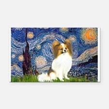 Starry Night Papillon (f) Rectangle Car Magnet