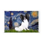 Starry Night Papillon Rectangle Car Magnet