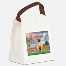 Cloud Angel & Siamese Canvas Lunch Bag