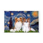 Starry Night & Papillon Rectangle Car Magnet