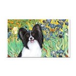 Irises & Papillon Rectangle Car Magnet