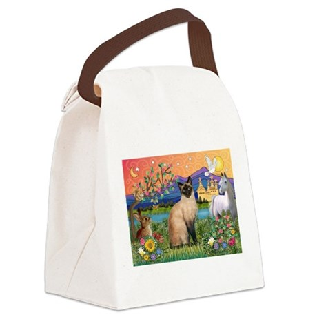 TILE-Fantasy-Siamese1.png Canvas Lunch Bag