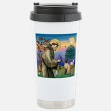 St Francis / Siamese Stainless Steel Travel Mug
