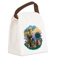 St Francis / 4 Cats Canvas Lunch Bag