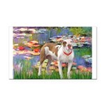 Lilies & Pitbull Rectangle Car Magnet