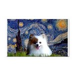 Starry/Pomeranian(r&w) Rectangle Car Magnet