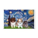 Starry-Pom PUPPY TRIO.png Rectangle Car Magnet