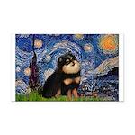 Starry Night / Pomeranian(b&t) Rectangle Car Magne