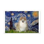 Starry / Pomeranian Rectangle Car Magnet