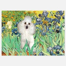 Irises / Poodle (w) Invitations