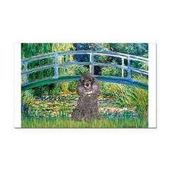 Bridge / Poodle (Silver) Rectangle Car Magnet