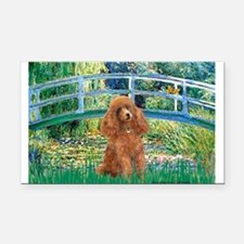 Lily Pond Bridge/Poodle (apri Rectangle Car Magnet