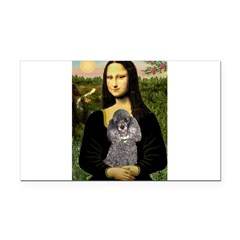 Mona / Poodle (s) Rectangle Car Magnet